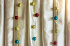 Adorn on the curtain. For celebrate stock photography