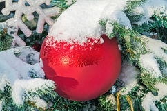 Adorna la Navidad Imagen de archivo libre de regalías