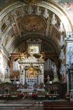 Adornado altere en la iglesia, Roma, Italia Fotos de archivo libres de regalías