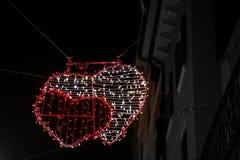 Adornado brillantemente para celebrar el día de tarjeta del día de San Valentín Fotografía de archivo libre de regalías