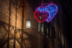 Adornado brillantemente para celebrar el día de tarjeta del día de San Valentín Foto de archivo libre de regalías