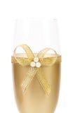 Adornado casandose el arco de cristal de oro del wuth. Fotos de archivo