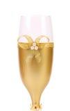 Adornado casandose el arco de cristal de oro del wuth. Imagen de archivo libre de regalías
