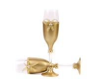Adornado casandose el arco de oro del wuth de los vidrios. Imagen de archivo