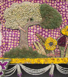 Adornado con la flor del amaranto púrpura Imagen de archivo