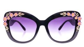 Adornado con las gafas de sol de los diamantes artificiales Foto de archivo libre de regalías