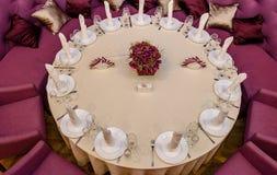 Adornado con una mesa redonda Fotos de archivo libres de regalías