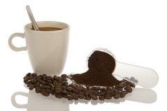 Adornado de la materia relacionada del café Imagen de archivo libre de regalías