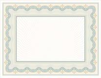 Adornado, diseño del Certificado-diploma con los elementos decorativos ilustración del vector