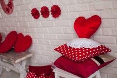 Adornado en estilo de la tarjeta del día de San Valentín Imagen de archivo libre de regalías