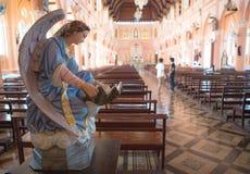 Adornado en iglesia Imagenes de archivo