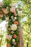 Adornado festivamente maravillosamente de flores Fotografía de archivo