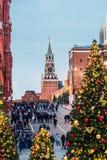 adornado para el día de fiesta del Año Nuevo y de la Navidad Imagenes de archivo