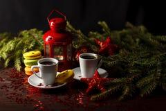 Adornado para las galletas del pan de jengibre de la Navidad, la Navidad topa CH Fotografía de archivo