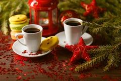 Adornado para las galletas del pan de jengibre de la Navidad, la Navidad topa CH Fotografía de archivo libre de regalías