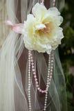 Adornado tradicionalmente con las ramas florece el frente del cordón de las cintas Imagen de archivo