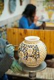 Adornamiento de la cerámica Foto de archivo