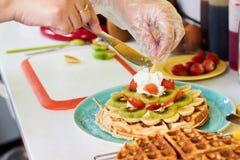 Adornamiento de la galleta del desayuno Imagen de archivo