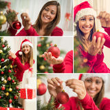 Adornamiento de la Navidad Fotos de archivo
