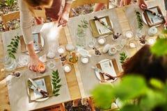 Adornamiento de la tabla de la acción de gracias Imagen de archivo libre de regalías