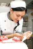 Adornamiento de la torta de los pasteles Foto de archivo libre de regalías