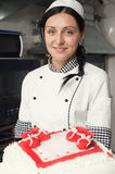 Adornamiento de la torta de los pasteles Imagen de archivo libre de regalías