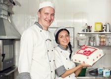 Adornamiento de la torta de los pasteles Imágenes de archivo libres de regalías