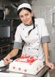 Adornamiento de la torta de los pasteles Imagen de archivo