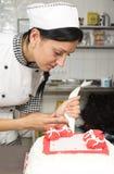 Adornamiento de la torta de los pasteles Fotografía de archivo libre de regalías