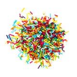 Adornamiento de las barretas coloreadas del azúcar Imagenes de archivo