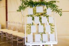 Adornamiento de las flores con una celebración de la boda Fotos de archivo