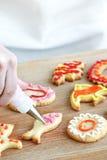 Adornamiento de las galletas Imágenes de archivo libres de regalías