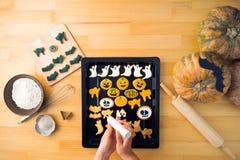 Adornamiento de las galletas Fotografía de archivo libre de regalías