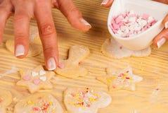 Adornamiento de las galletas Foto de archivo libre de regalías