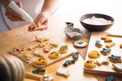 Adornamiento de las galletas de Halloween Foto de archivo libre de regalías