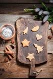 Adornamiento de las galletas de la Navidad Imagen de archivo libre de regalías
