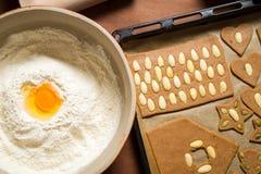 Adornamiento de las galletas del pan de jengibre Imagen de archivo