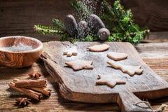 Adornamiento de las galletas del pan de jengibre para la Navidad Foto de archivo