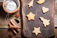 Adornamiento de las galletas para la Navidad Imagen de archivo