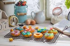 Adornamiento de los anillos de espuma dulces Imagen de archivo libre de regalías