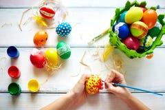 Adornamiento de los huevos Fotos de archivo libres de regalías
