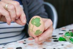Adornamiento de los huevos de Pascua Imagen de archivo