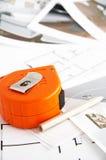 Adornamiento de plan y de las herramientas Fotos de archivo