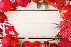 Adornamiento de tarjetas de Navidad Foto de archivo libre de regalías