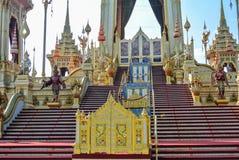 Adornamiento de un crematorio para la ceremonia real de la cremación Fotos de archivo