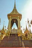 Adornamiento de un lugar para la ceremonia real de la cremación Foto de archivo libre de regalías
