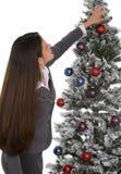 Adornamiento del árbol de la oficina Foto de archivo libre de regalías