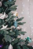 Adornamiento del árbol de navidad hermoso Foto de archivo