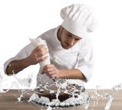 Adornamiento del chef de repostería Fotos de archivo