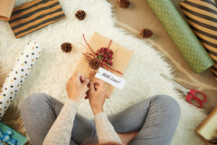 Adornamiento del giftbox Imágenes de archivo libres de regalías